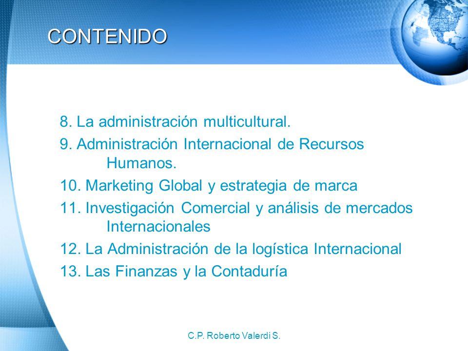 CONTENIDO 8. La administración multicultural.