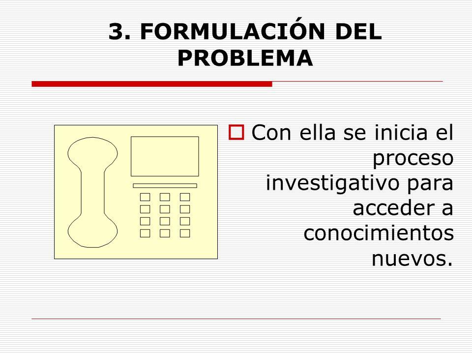 3. FORMULACIÓN DEL PROBLEMA