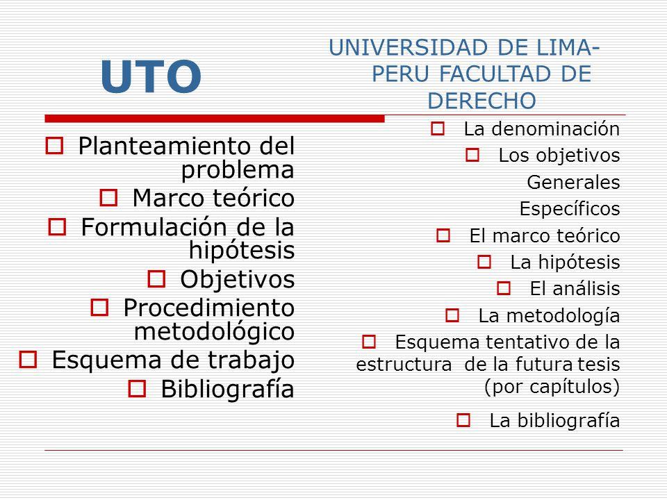 UNIVERSIDAD DE LIMA-PERU FACULTAD DE DERECHO