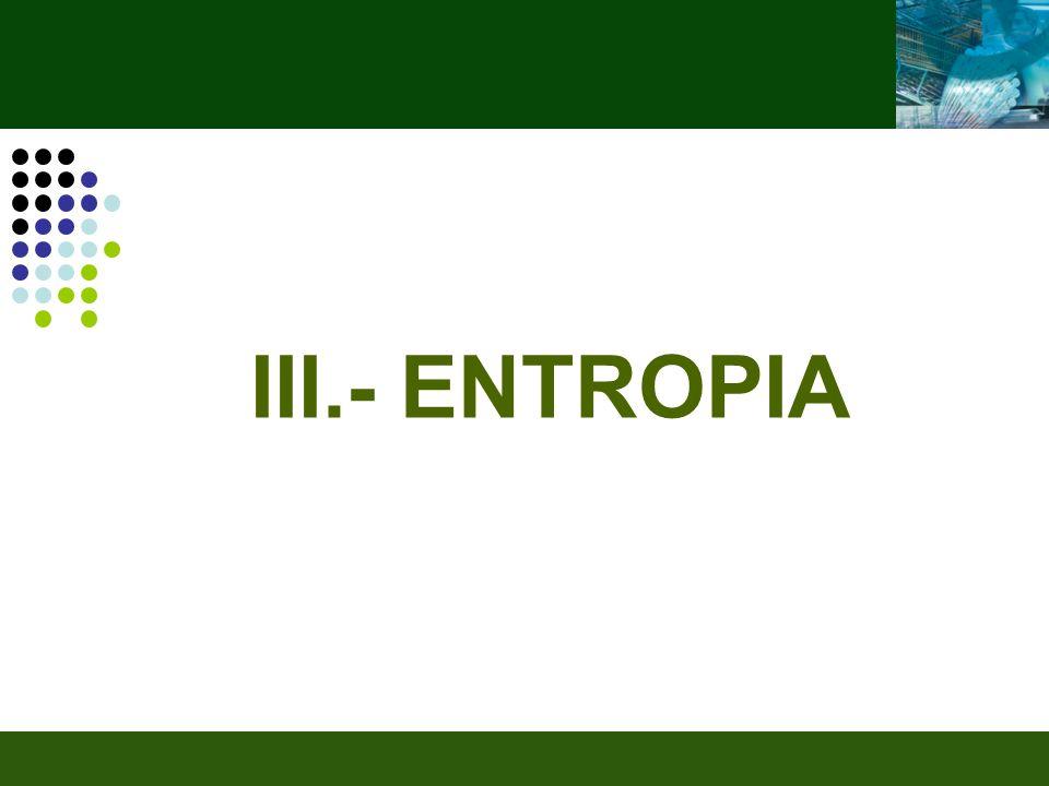 III.- ENTROPIA