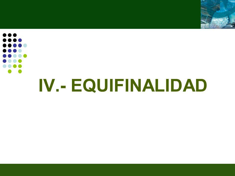 IV.- EQUIFINALIDAD