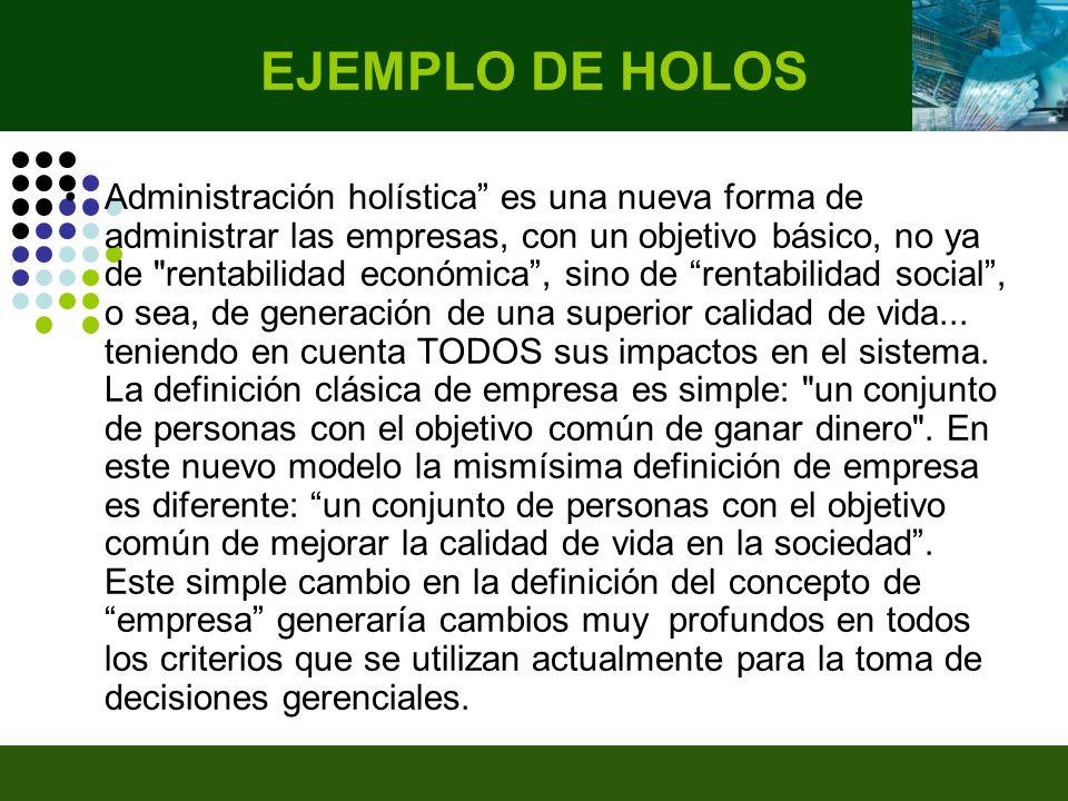 EJEMPLO DE HOLOS