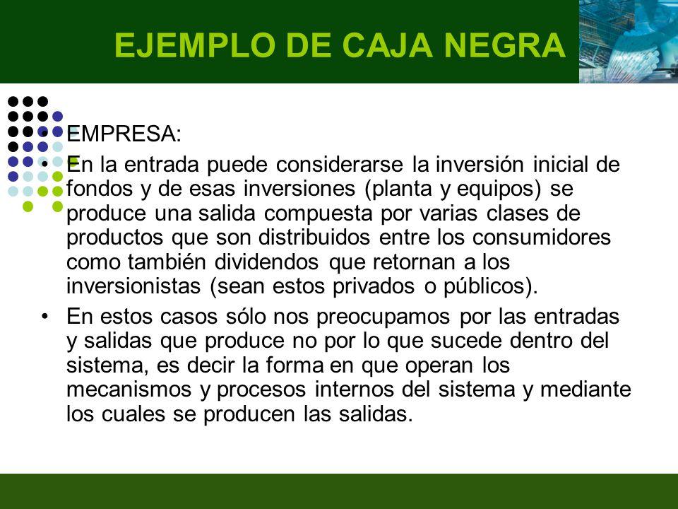 EJEMPLO DE CAJA NEGRA EMPRESA: