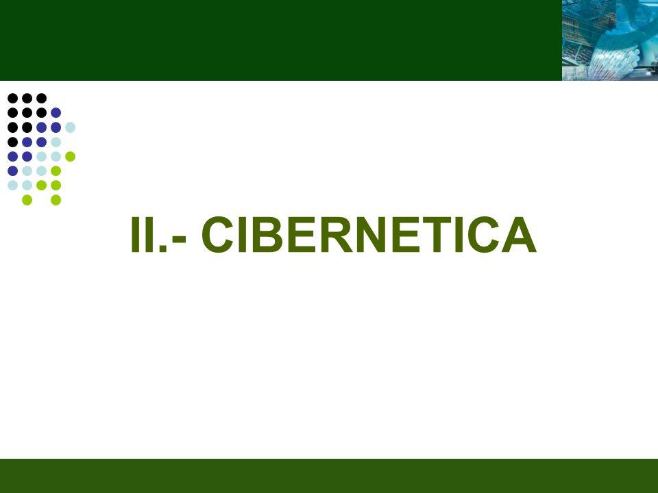 II.- CIBERNETICA