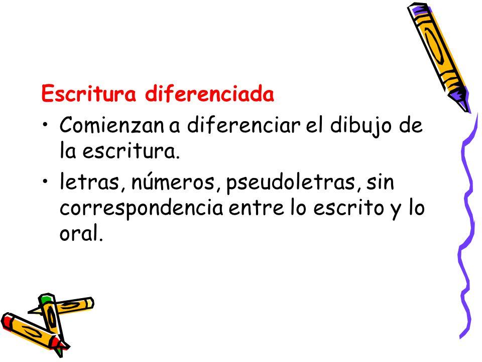 Escritura diferenciada