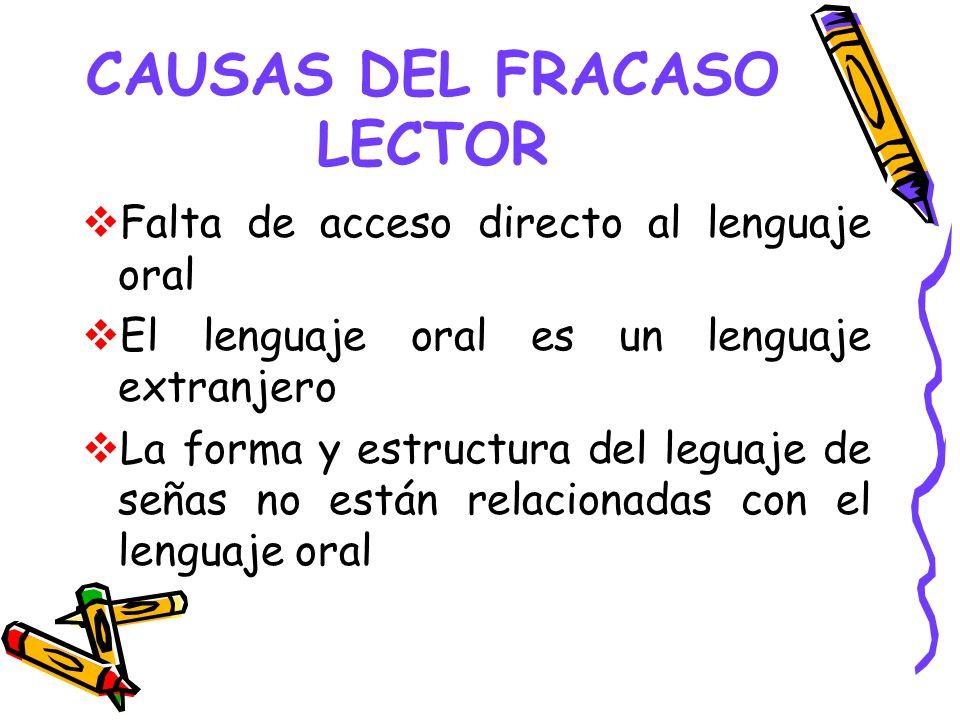 CAUSAS DEL FRACASO LECTOR