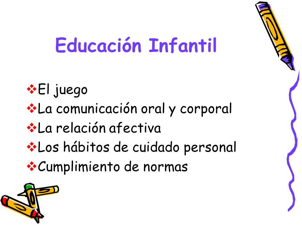 Educación Infantil El juego La comunicación oral y corporal