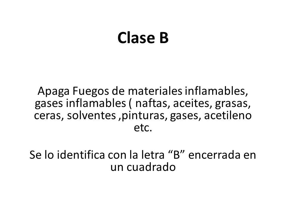 Se lo identifica con la letra B encerrada en un cuadrado