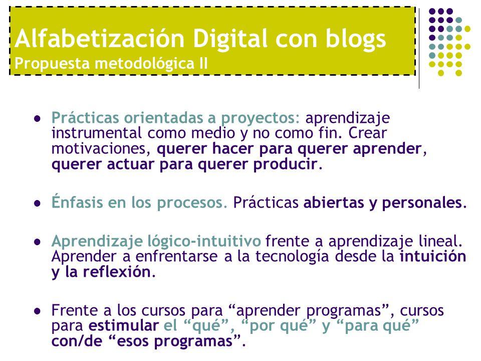Alfabetización Digital con blogs Propuesta metodológica II