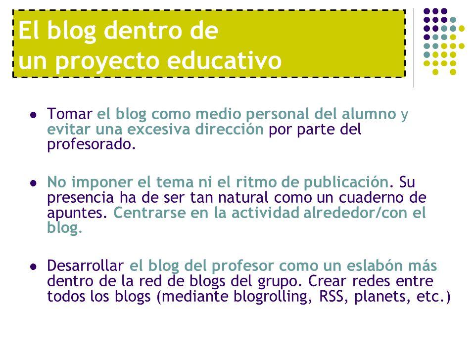 El blog dentro de un proyecto educativo