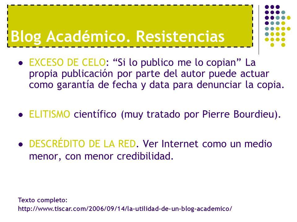 Blog Académico. Resistencias