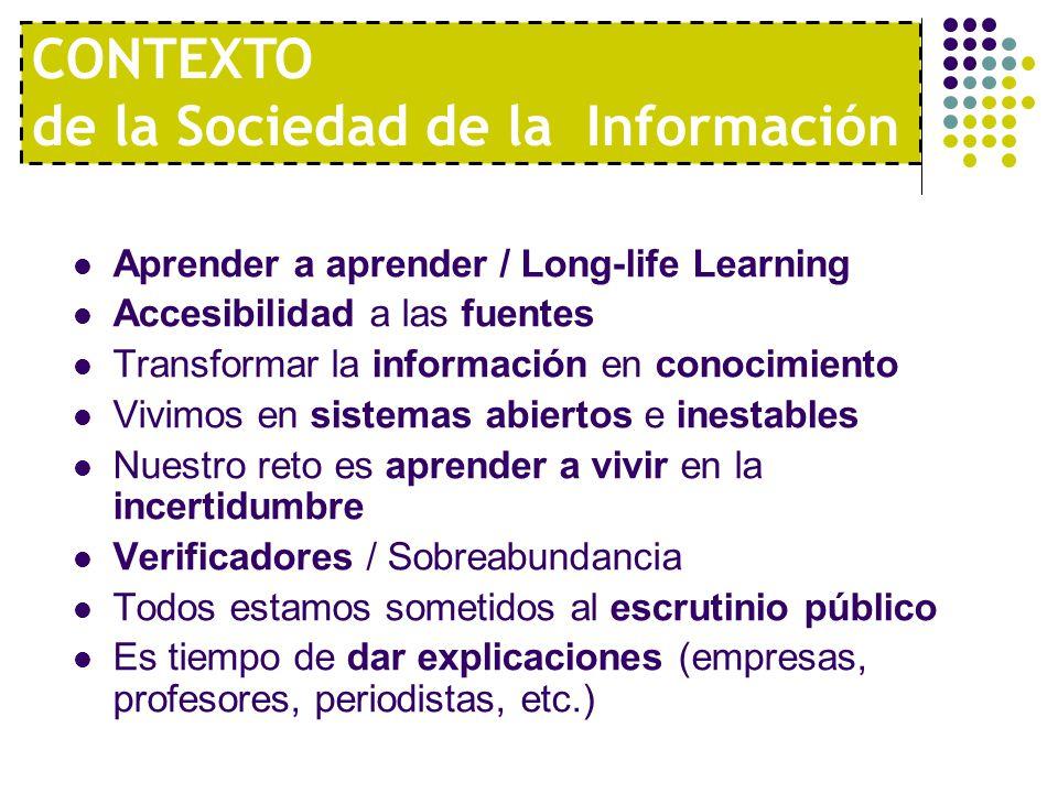 CONTEXTO de la Sociedad de la Información
