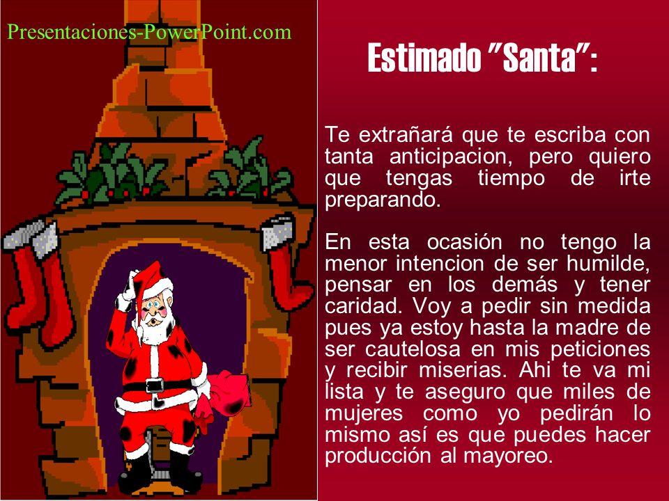 Estimado Santa : Presentaciones-PowerPoint.com