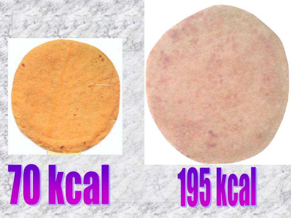 70 kcal 195 kcal