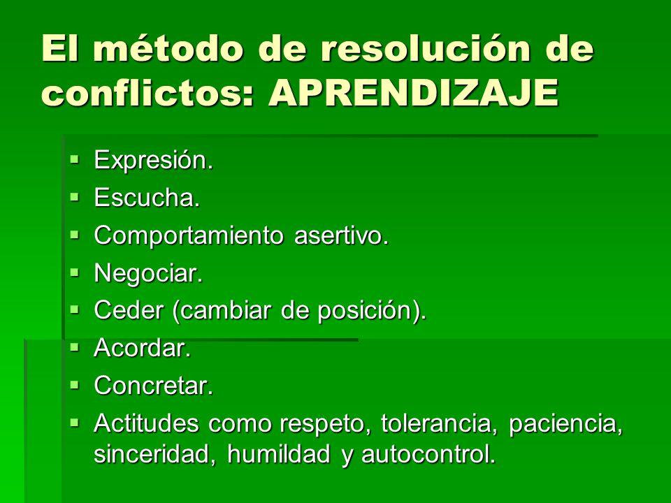 El método de resolución de conflictos: APRENDIZAJE