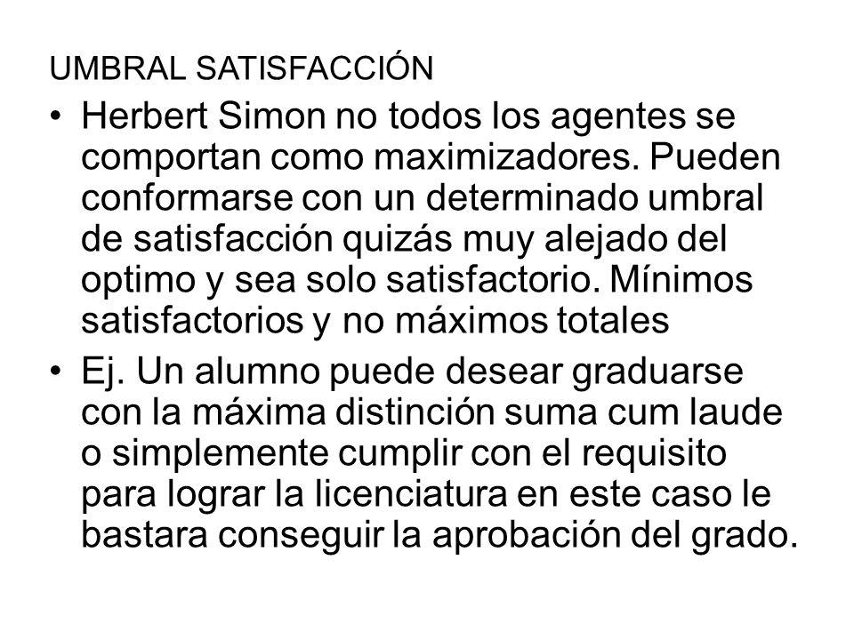 UMBRAL SATISFACCIÓN