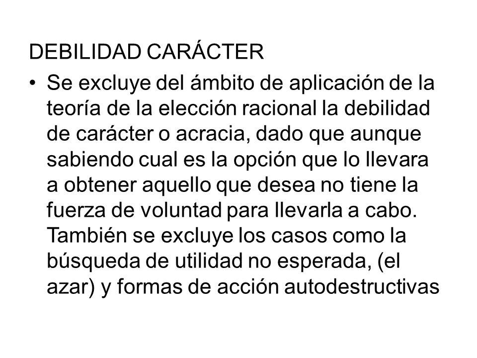 DEBILIDAD CARÁCTER