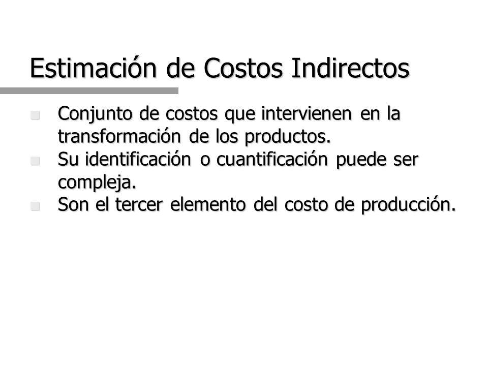 Estimación de Costos Indirectos