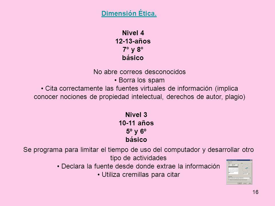Nivel 4 12-13-años 7° y 8° básico Nivel 3 10-11 años 5º y 6º básico