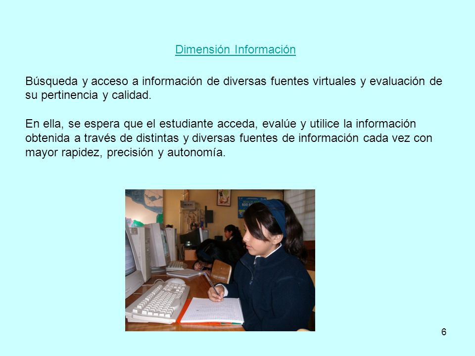 Dimensión Información