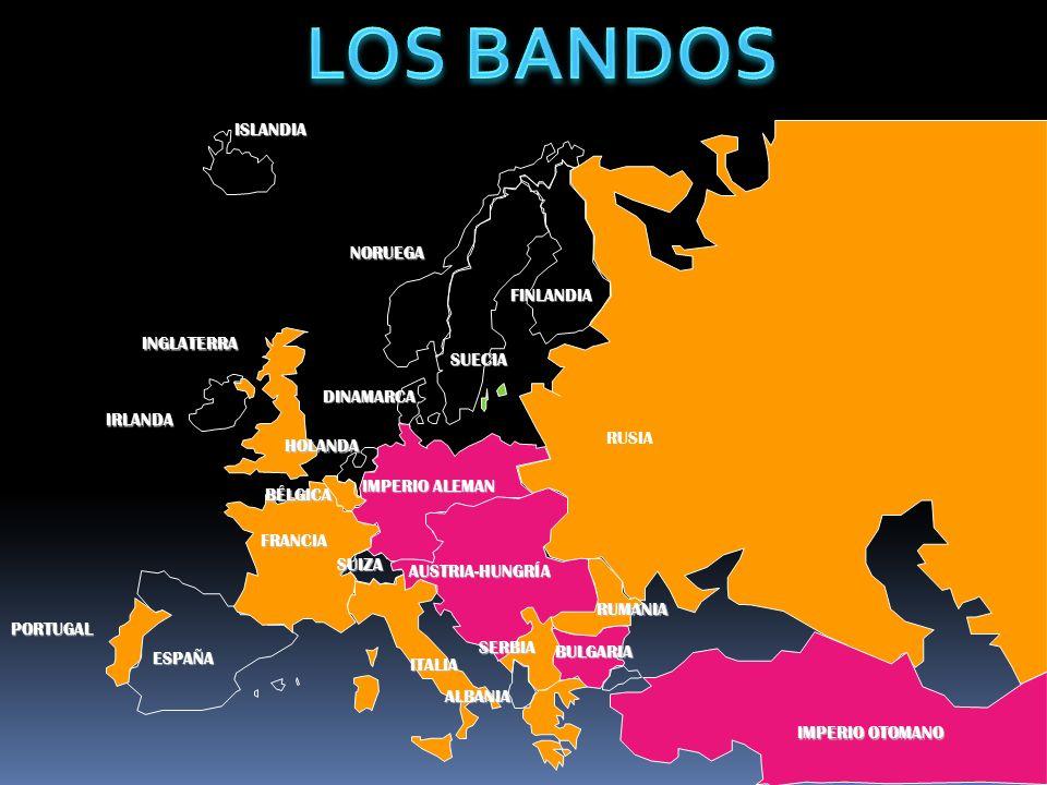 LOS BANDOS ISLANDIA NORUEGA FINLANDIA INGLATERRA SUECIA DINAMARCA