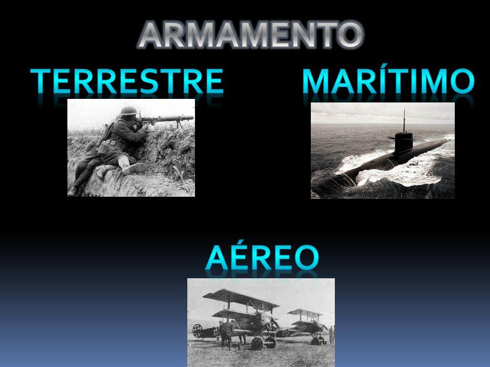 ARMAMENTO TERRESTRE MARÍTIMO AÉREO