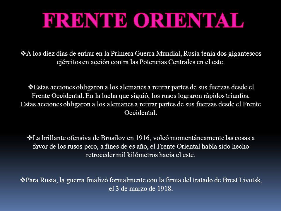 FRENTE ORIENTAL