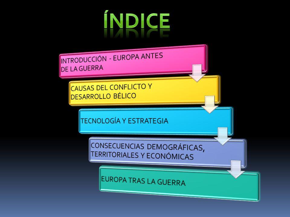 ÍNDICE INTRODUCCIÓN - EUROPA ANTES DE LA GUERRA