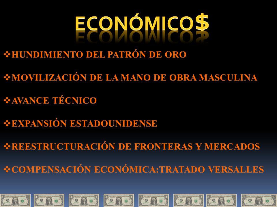 ECONÓMICO$ HUNDIMIENTO DEL PATRÓN DE ORO