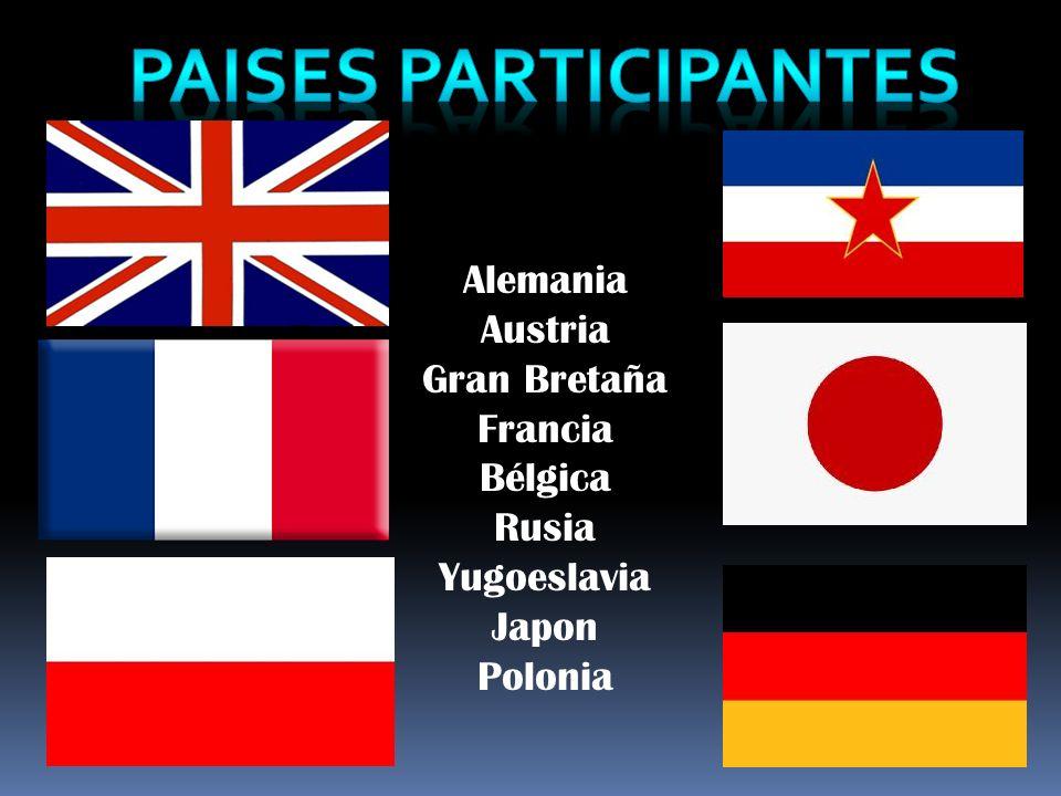 PAISES PARTICIPANTES Alemania Austria Gran Bretaña Francia Bélgica