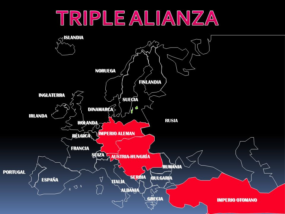 TRIPLE ALIANZA ISLANDIA NORUEGA FINLANDIA INGLATERRA SUECIA DINAMARCA