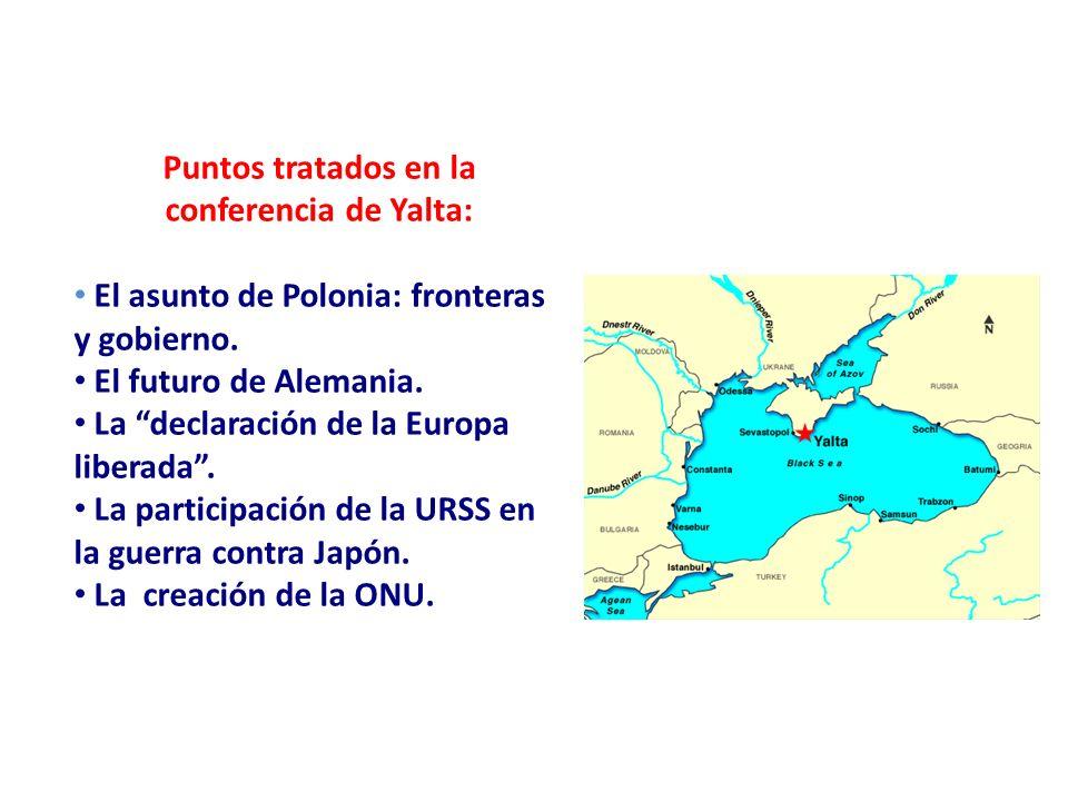 Puntos tratados en la conferencia de Yalta: