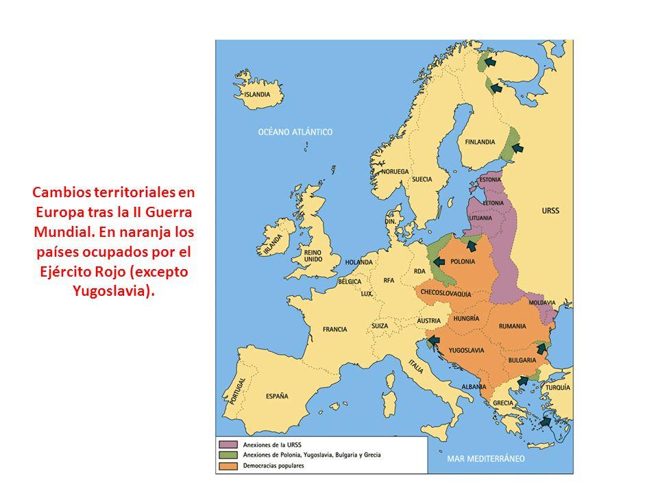 Cambios territoriales en Europa tras la II Guerra Mundial