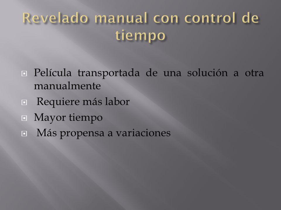 Revelado manual con control de tiempo