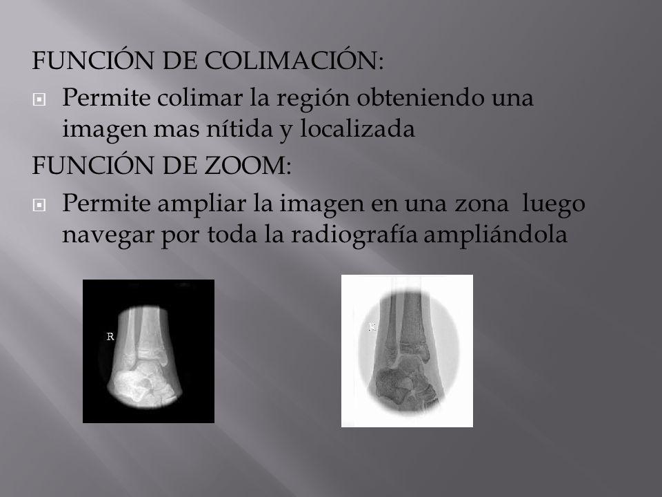 FUNCIÓN DE COLIMACIÓN: