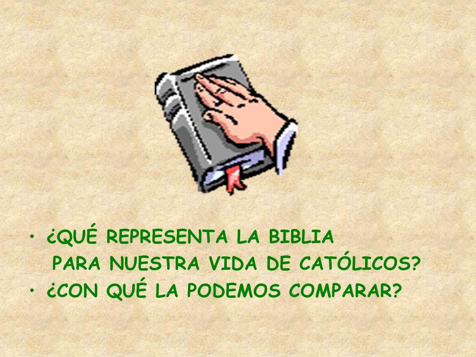 ¿QUÉ REPRESENTA LA BIBLIA