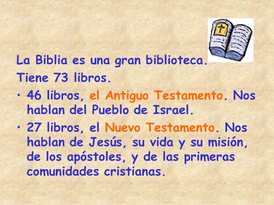 La Biblia es una gran biblioteca.