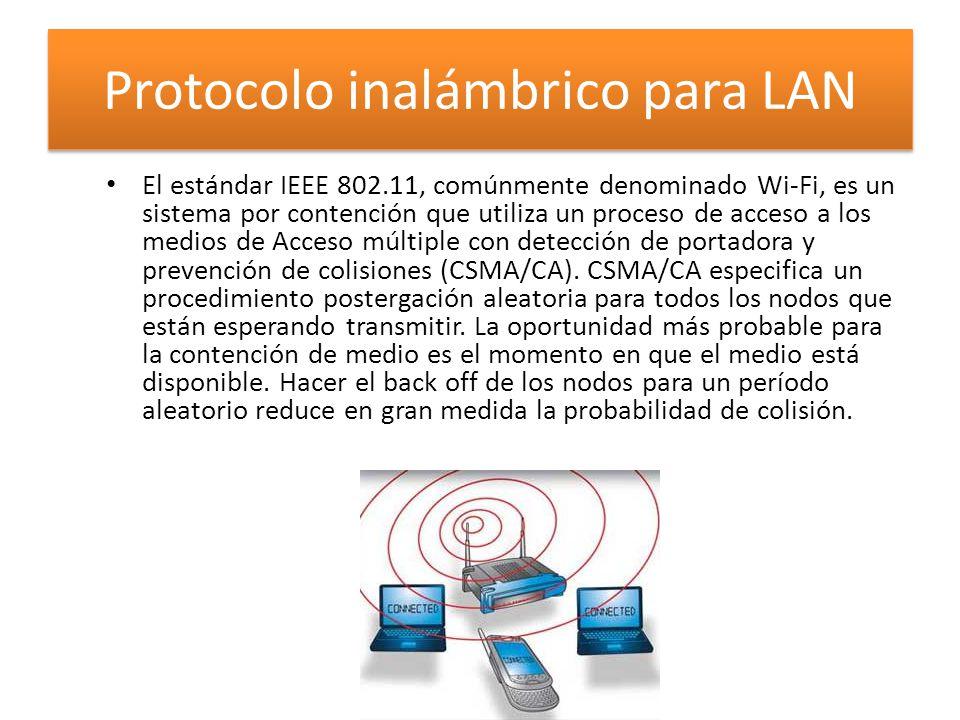 Protocolo inalámbrico para LAN