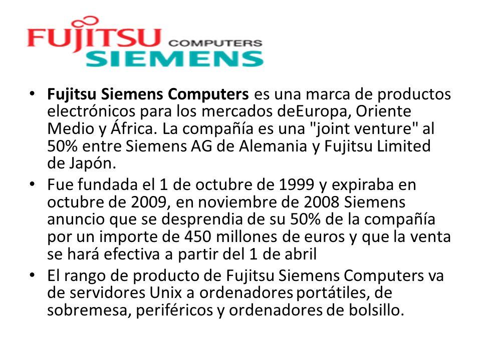 Fujitsu Siemens Computers es una marca de productos electrónicos para los mercados deEuropa, Oriente Medio y África. La compañía es una joint venture al 50% entre Siemens AG de Alemania y Fujitsu Limited de Japón.