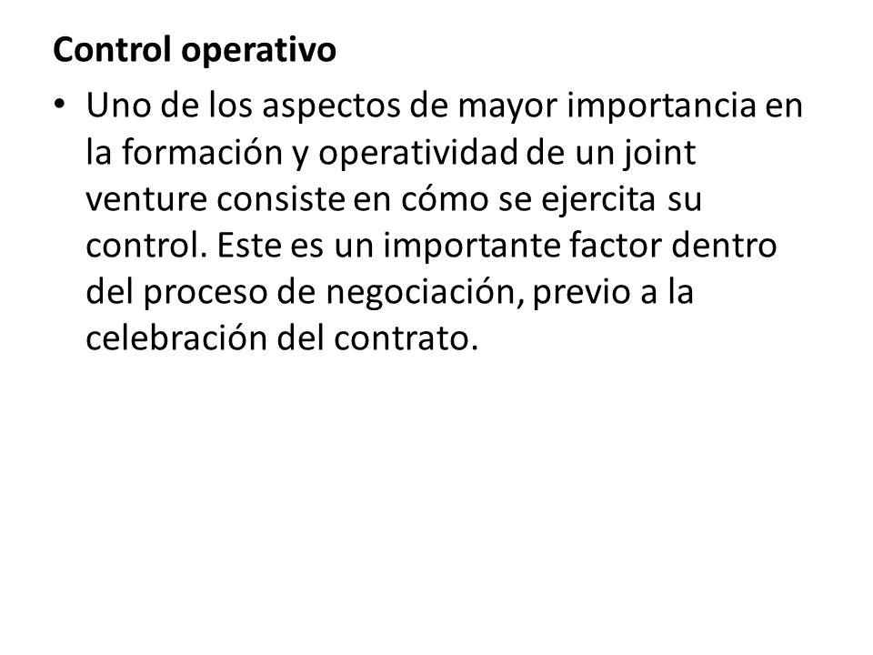 Control operativo