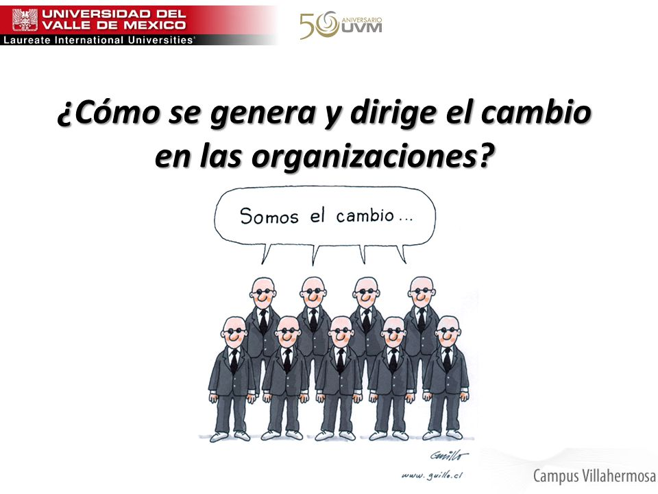 ¿Cómo se genera y dirige el cambio en las organizaciones