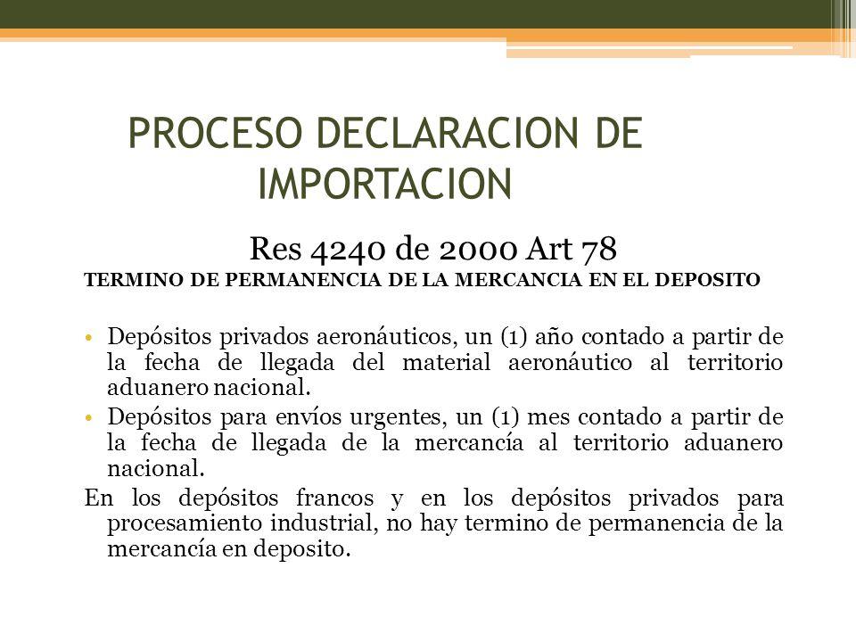 PROCESO DECLARACION DE IMPORTACION