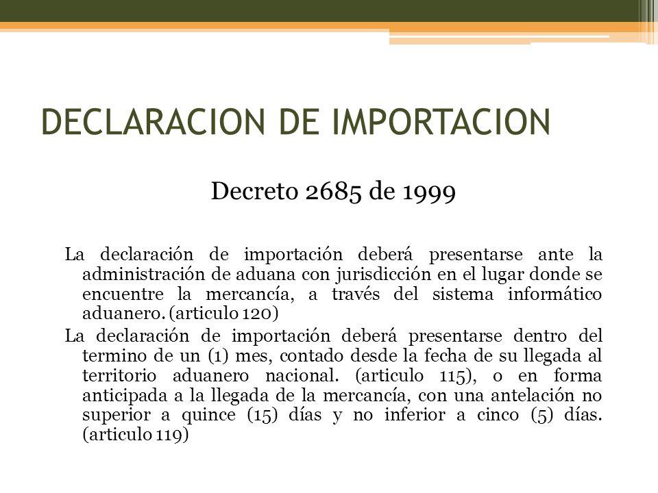 DECLARACION DE IMPORTACION