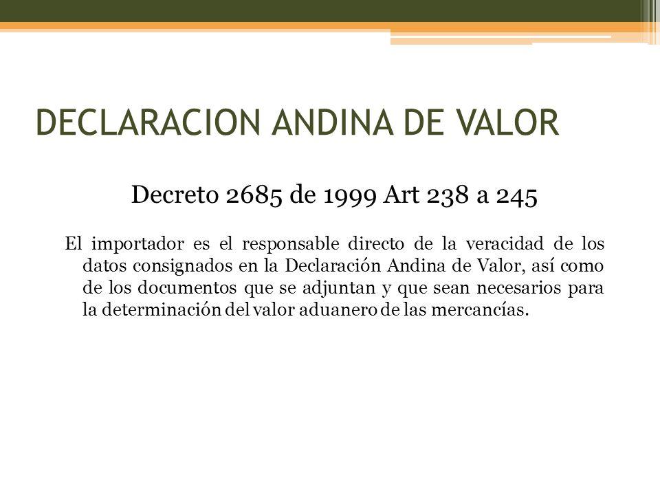 DECLARACION ANDINA DE VALOR