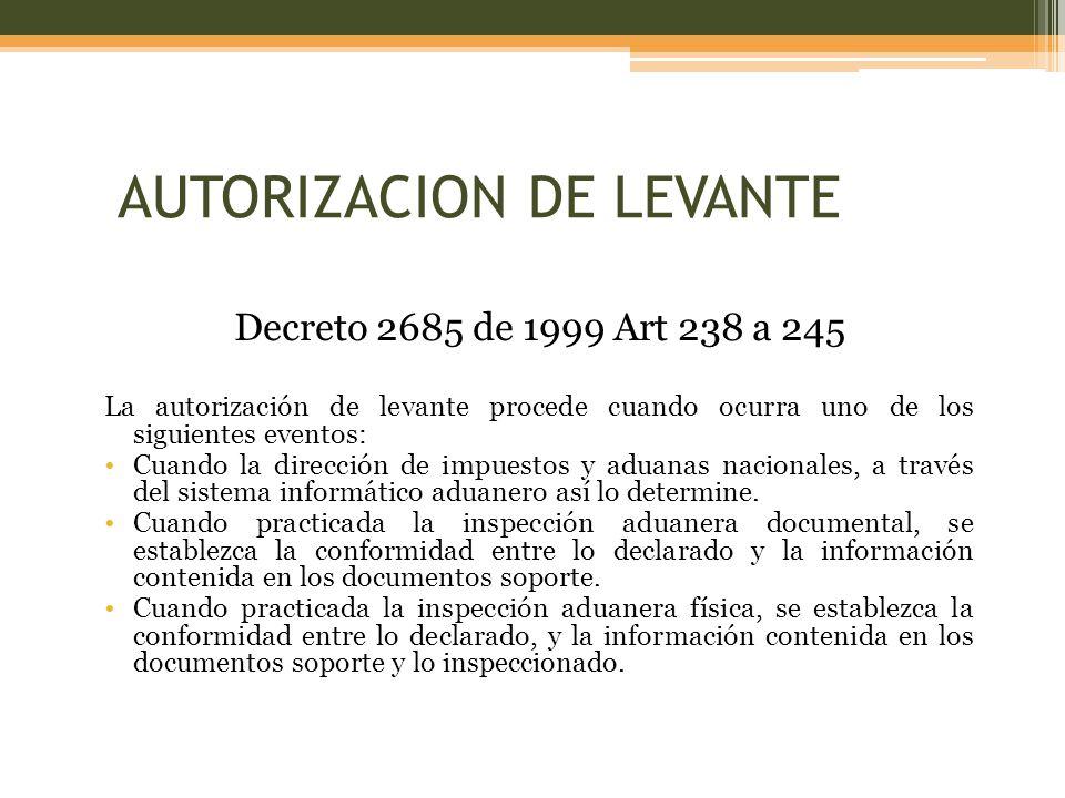 AUTORIZACION DE LEVANTE