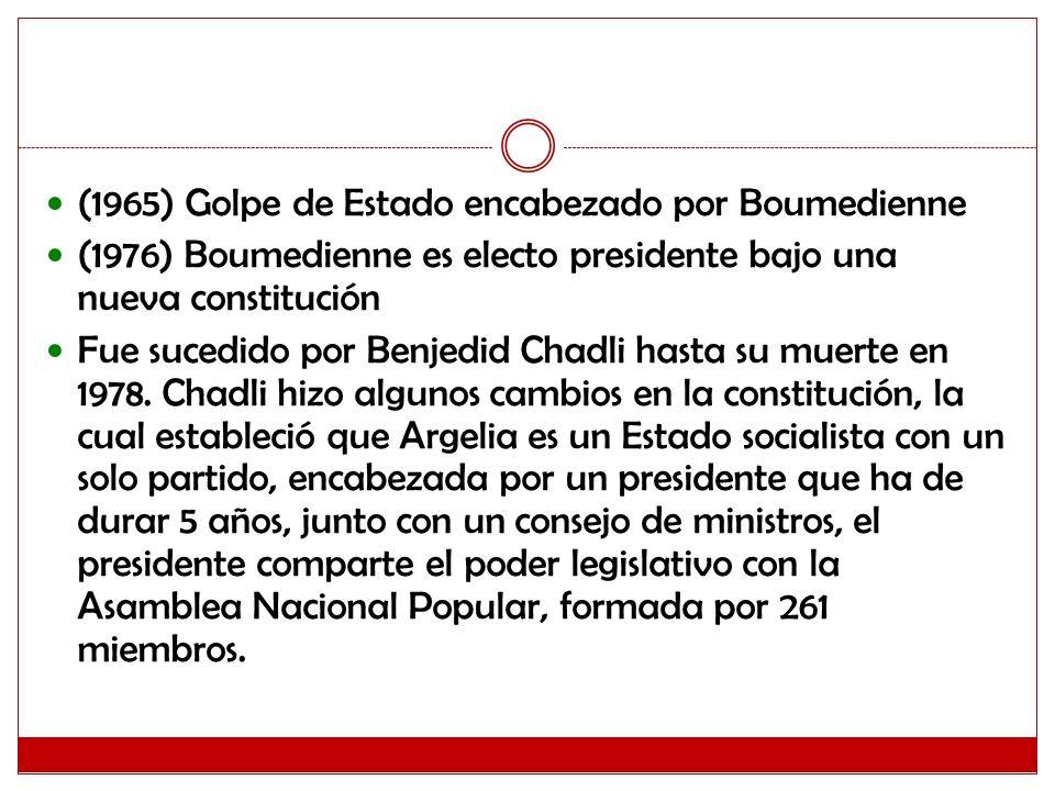 (1965) Golpe de Estado encabezado por Boumedienne