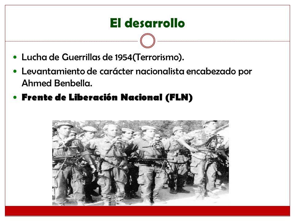 El desarrollo Lucha de Guerrillas de 1954(Terrorismo).