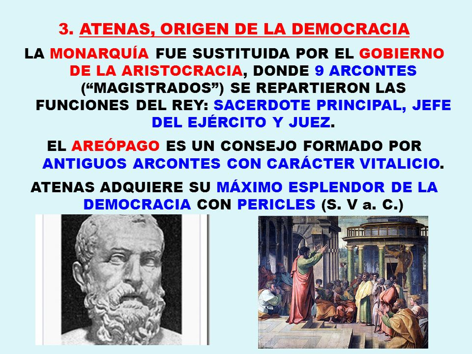 3. ATENAS, ORIGEN DE LA DEMOCRACIA