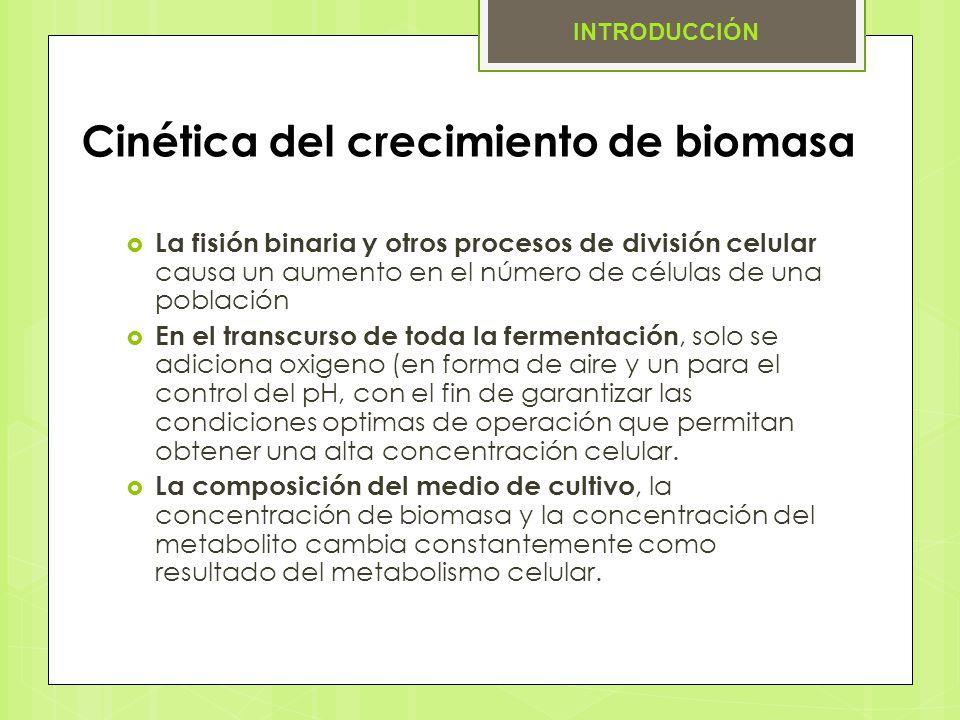 Cinética del crecimiento de biomasa
