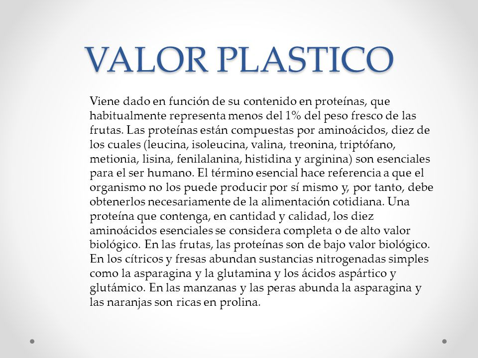VALOR PLASTICO